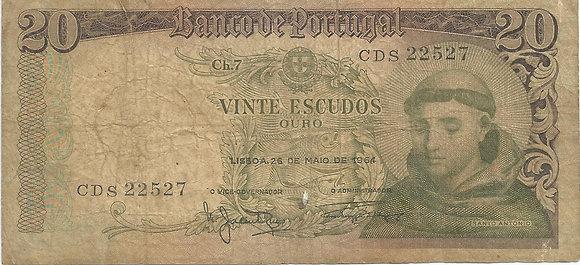 Portugal PTBN200012527 20 Escudos 1964