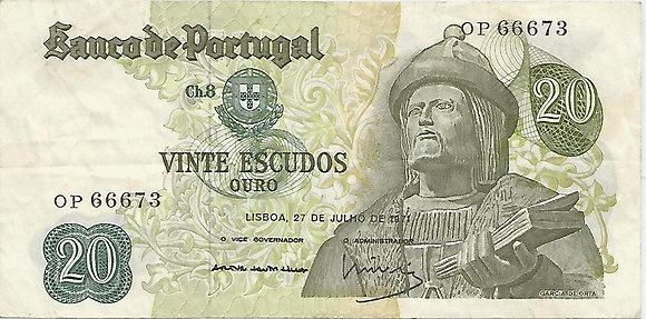 Portugal PTBN20.051.6673 20 Escudos 1971