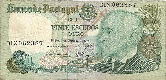 Portugal PTBN200232387 20 Escudos 1978