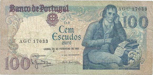 Portugal PTBN100.024.7033 100 Escudos 1981