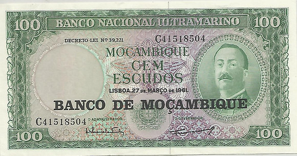Moçambique MBBN0100058504 100 Escudos 1961