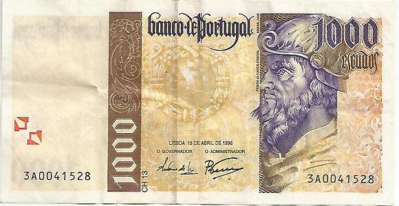 Portugal PTBN1000.0031528 1000 escudos 1996