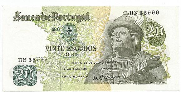 Portugal PTBN20.008.5999 20 Escudos 1971