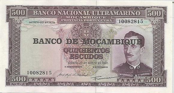 Moçambique MBBN5000082815 500 Escudos 1967