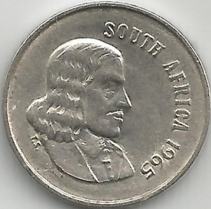 South Africa SAC.0081965 5 Cents 1965