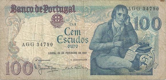 Portugal PTBN100.009.4790 100 Escudos 1981