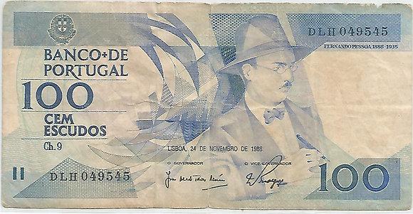 Portugal PTBN100.034.9545 100 Escudos 1988