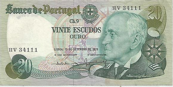 Portugal PTBN20.060.4111 20 Escudos 1978