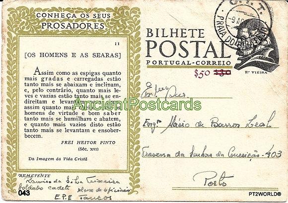 Bilhete Postal PT043/49 - Conheça os seus Prosadores