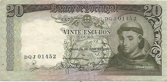 Portugal PTBN20.005.1452 20 Escudos 1964