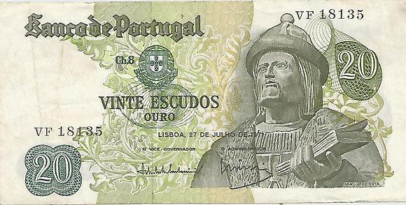 Portugal PTBN20.046.8135 20 Escudos 1971
