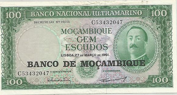 Moçambique MBBN0100022047 100 Escudos 1961