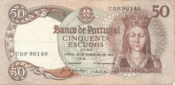 Portugal PTBN50.003.0140 50 Escudos 1964