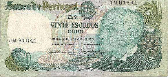 Portugal PTBN20.003.1641 20 Escudos 1978