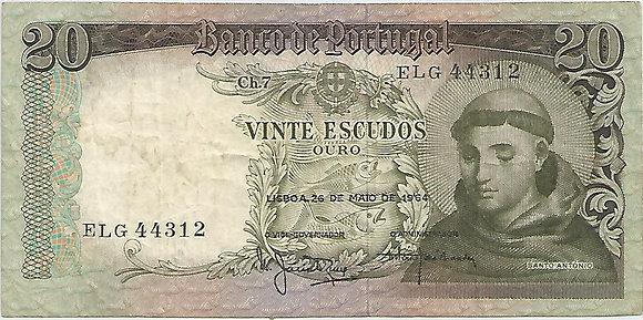 Portugal PTBN20.004.4312 20 Escudos 1964