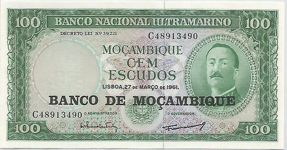 Moçambique MBBN0100093490 100 Escudos 1961