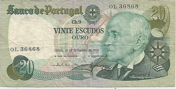 Portugal PTBN20.061.6868 20 Escudos 1978