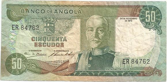 Angola  ANBN0500074762 50 Escudos 1972