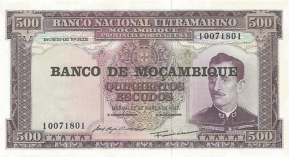 Moçambique MBBN5000091801 500 Escudos 1967