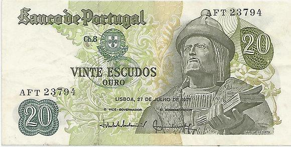 Portugal PTBN20.042.3794 20 Escudos 1971