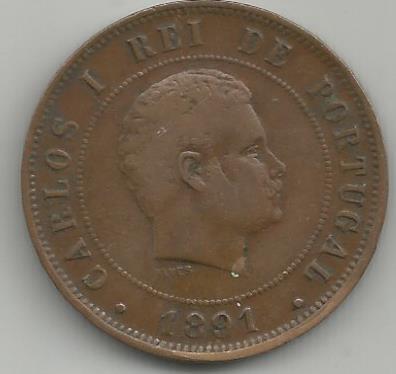 Portugal PTXX1021891 XX Reis 1891