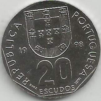Portugal PT02121998 20 Escudos 1998