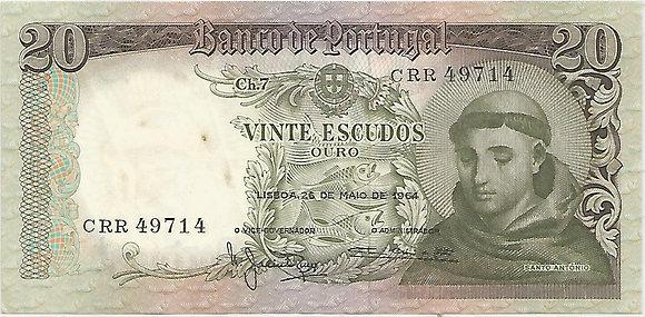 Portugal PTBN20.032.9714 20 Escudos 1964