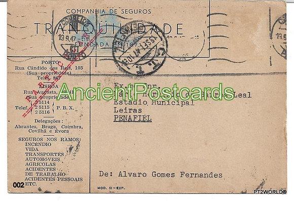 Bilhete Postal PT002/47 -Tranquilidade Companhia de Seguros