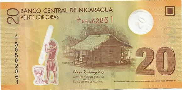 Nicaragua BankNotes NICBN007.62861 20 Cordobas 2007