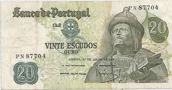 Portugal PTBN20.048.7704 20 Escudos 1971
