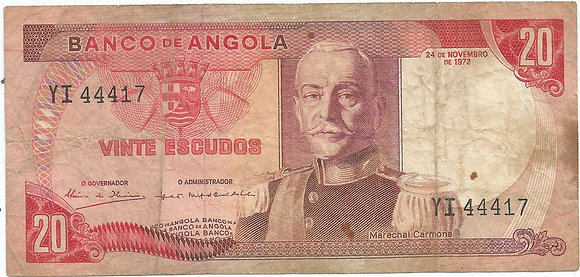 Angola  ANBN0200014417 20 Escudos 1972