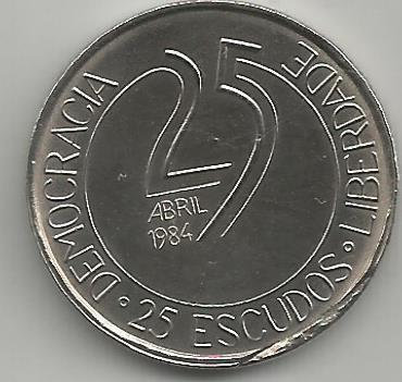Portugal PT02511984 25 Escudos 1984
