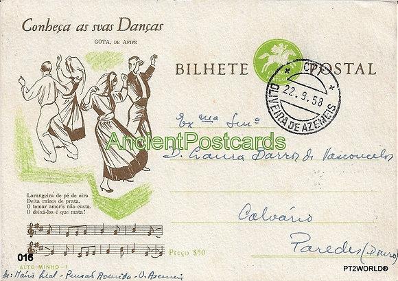 Bilhete Postal PT016/58 - Conheça as suas Danças