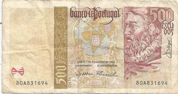 Portugal PTBN500004DA831694 500 Escudos 2000