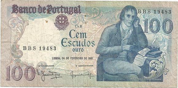 Portugal PTBN1000109483 100 Escudos 1981