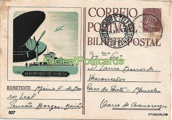 Bilhete Postal PT007/47- Aeroporto de Lisboa