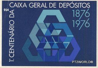 Portugal PTOT914 1º Centenario da Caixa Geral de depositos