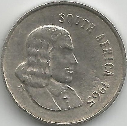 South Africa SAC.0021965 5 Cents 1965