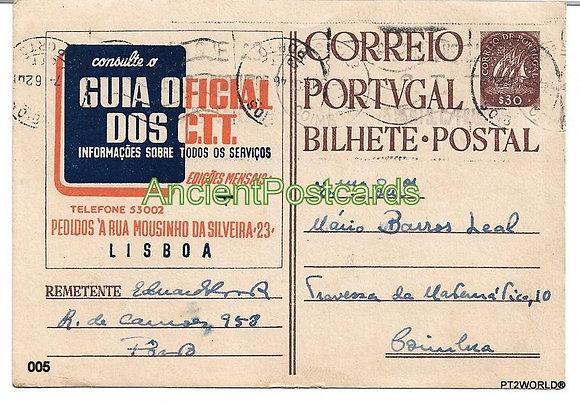 Bilhete Postal PT005/46 - Guia Oficial dos C.C.T.