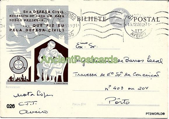 Bilhete Postal PT026/55 - Defesa Civil