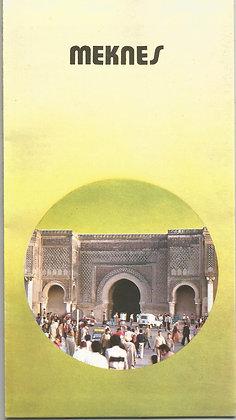 Marroco Tourism Brochures MATB005 Meknes