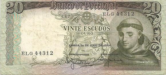 Portugal PTBN200044312 20 Escudos 1964