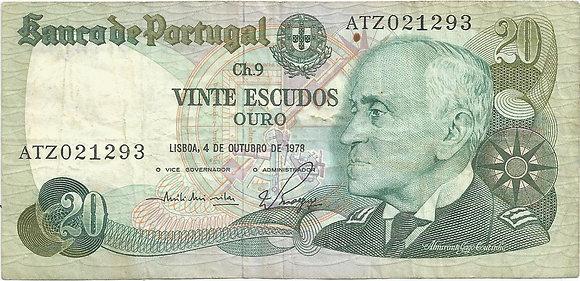 Portugal PTBN20.017.1293 20 Escudos 1978