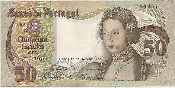 Portugal PTBN50.013.4657 50 Escudos 1968