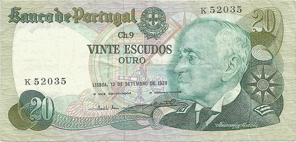 Portugal PTBN20.014.2035 20 Escudos 1978