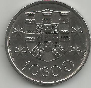 Portugal PT01041974 10 Escudos 1974