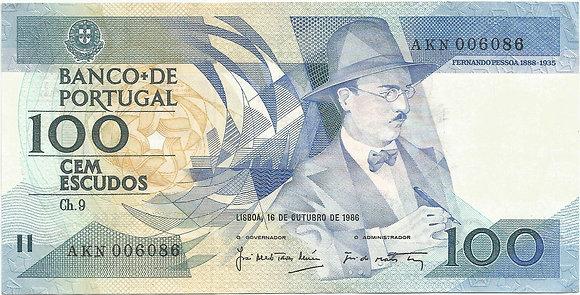 Portugal PTBN100.032.6086 100 Escudos 1986