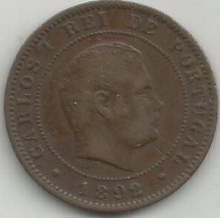 Portugal PT0X1021892 X Reis 1892