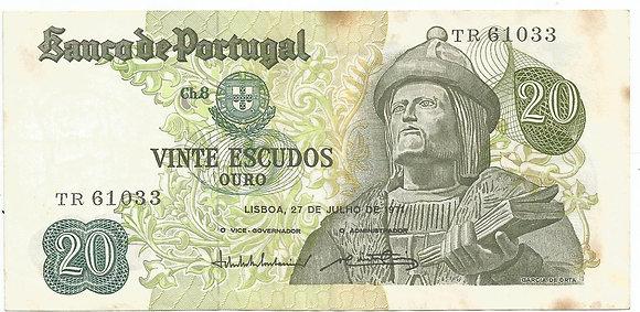 Portugal PTBN20.011.1033 20 Escudos 1971