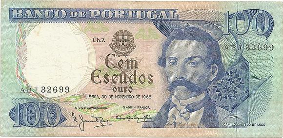 Portugal PTBN100.014.2699 100 Escudos 1965